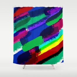 Colorful ink Shower Curtain