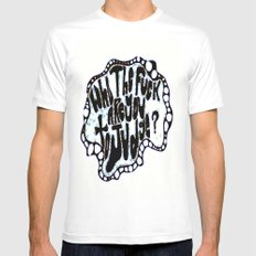 Who The fuck Are You To Judge? MEDIUM Mens Fitted Tee White