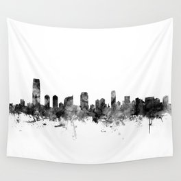 Jersey City New Jersey Skyline Wall Tapestry