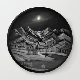 Natures moonlight Wall Clock