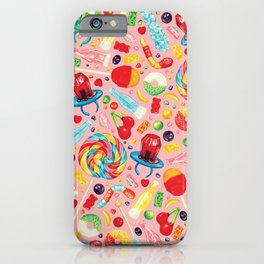 Candy Pattern - Pink iPhone Case