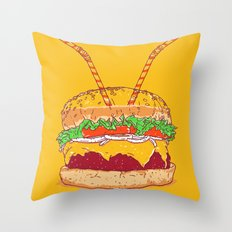 Burger for two Throw Pillow
