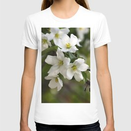 White flowers of apple trees on the branch T-shirt