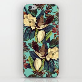 FLORAL AND BIRDS XXI iPhone Skin