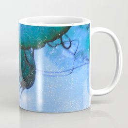 Blue Glow Jelly Fish Coffee Mug