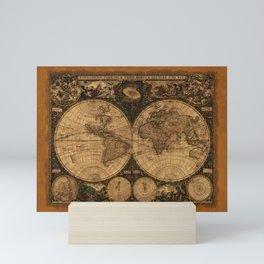 Nova Totius Terrarum Vintage Map Mini Art Print