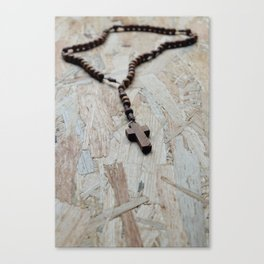 Wooden rosary Canvas Print