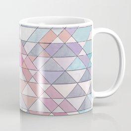 Triangle Pattern no.25 Light Pink Coffee Mug