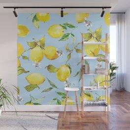 Watercolor lemons 10 Wall Mural