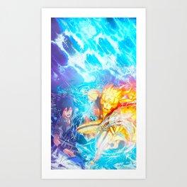 Ninja Strike Art Print