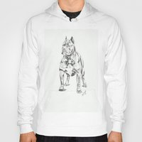 pit bull Hoodies featuring Pit Bull  by RJsART