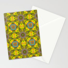 Abstract Flower Pattern AAA RRR Stationery Cards
