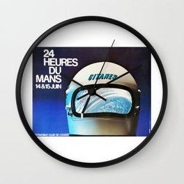 Le Mans 1975, vintage poster, 24hs Le Mans t-shirt Wall Clock