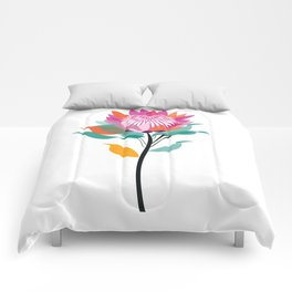 Protea Illustration; Botanical; Australian Native Comforters