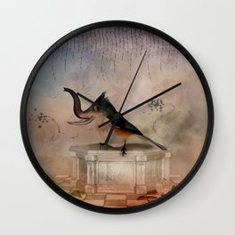 Awesome cute elephant bird Wall Clock