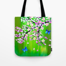 Green  and Ulysseys butterflies Tote Bag