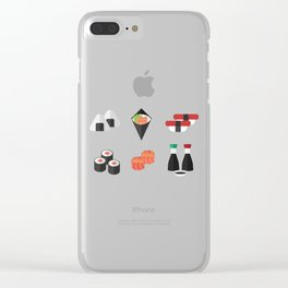 Sushi Day Clear iPhone Case