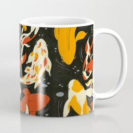 Koi in Black Water Coffee Mug