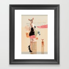 Dear Deer Girl Framed Art Print