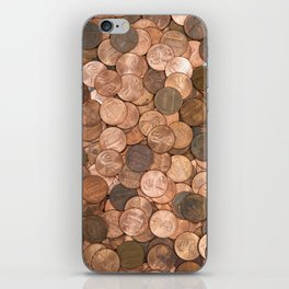 Pennies for your thoughts iPhone Skin