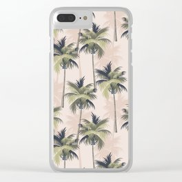 Palm Tree Paradise Clear iPhone Case