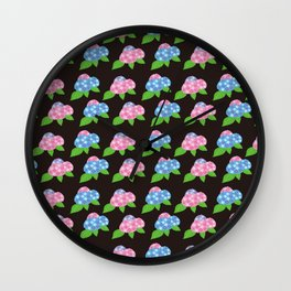 Hydrangea Pattern_B Wall Clock