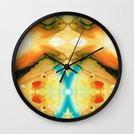 Namaste - Divine Art By Sharon Cummings Wall Clock
