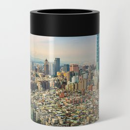 Aerial view and cityscape of Taipei, Taiwan Can Cooler