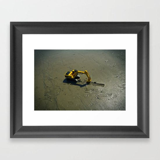 Little helper Framed Art Print