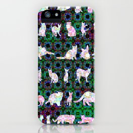 """""""Fifty Felines"""" by surrealpete iPhone Case"""