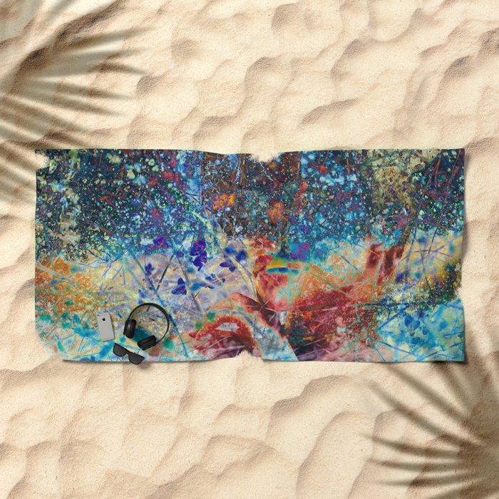 Splatter Beach Towel