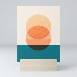 Abstraction_NEW_SUNSET_OCEAN_WAVE_POP_ART_Minimalism_0022D Mini Art Print