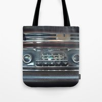 mercedes Tote Bags featuring Vintage Radio Becker Europa by Premium