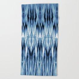 Blue Satin Shibori Argyle Beach Towel