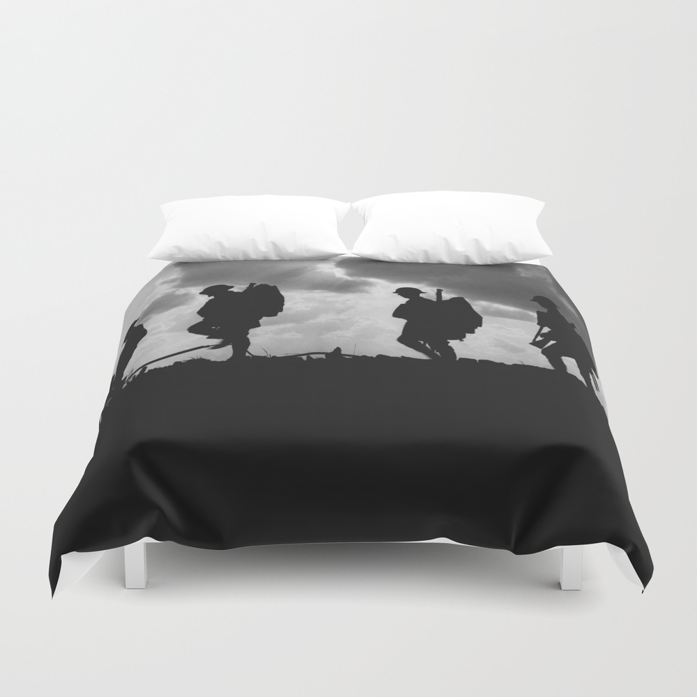 Soldier Silhouettes - Battle Of Broodseinde Duvet Cover by Warishellstore DUV7809675