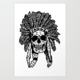 Chief Skull Art Print