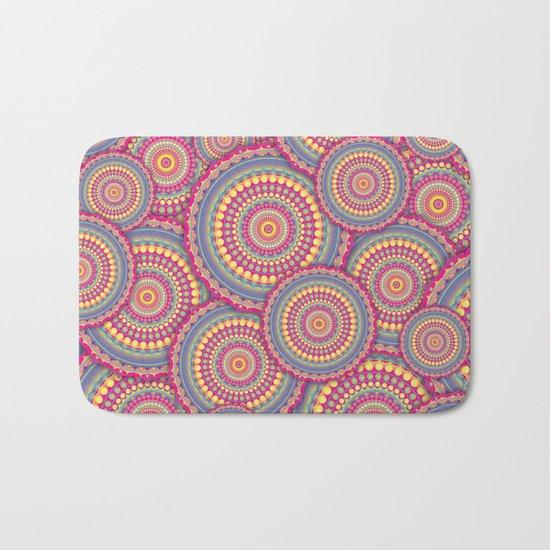 Pink Mandala Hippie Pattern Bath Mat