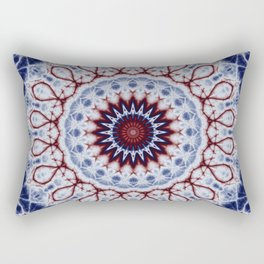 Mandala Fractal in Red White and Blue 01 Rectangular Pillow