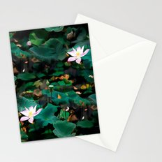 Lotus - A Pattern Stationery Cards