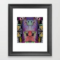 The Escher Factor, modern fractal abstract Framed Art Print