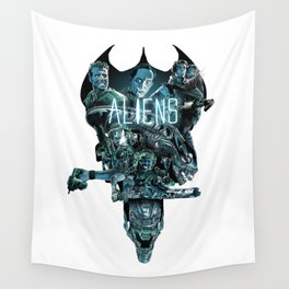 Aliens Illustration Tribute Wall Tapestry