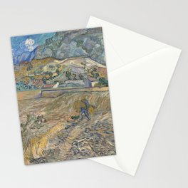 Vincent van Gogh - Landscape at Saint-Rémy (Enclosed Field with Peasant) (1889) Stationery Cards