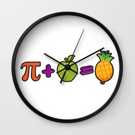 Pineapple Pi Science Geek Mathematics Symbol Humor Wall Clock