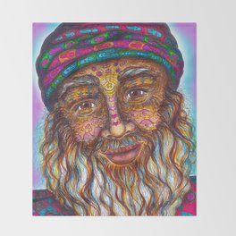 Wisdom Keeper Color #25 (Universal Love) Throw Blanket