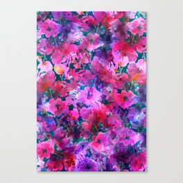 Little Pink Roses Canvas Print