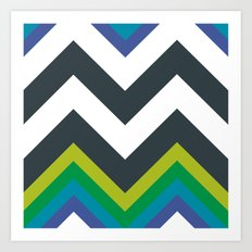 Chevron_Galaxy Art Print