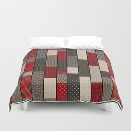 Country motifs . Classic quilting. Duvet Cover