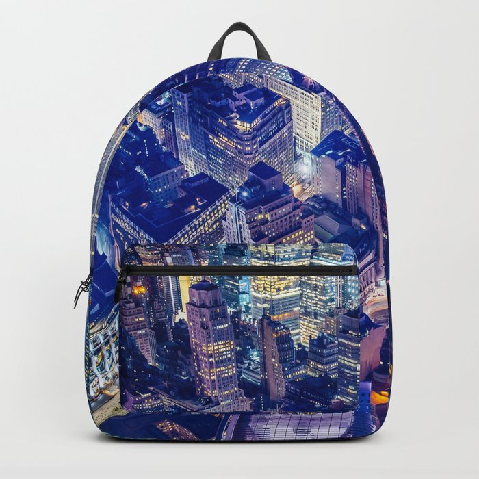 New York city night color Backpack