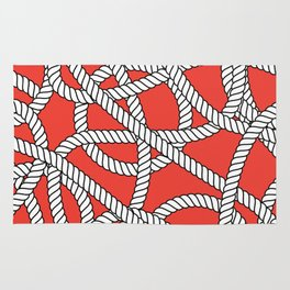 Red Rope Pattern Rug