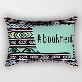 Book Nerd Tribal Print Rectangular Pillow